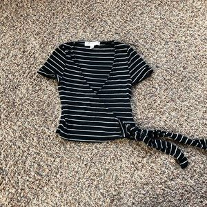 Urban Outfitters Stripped Wrap Tee